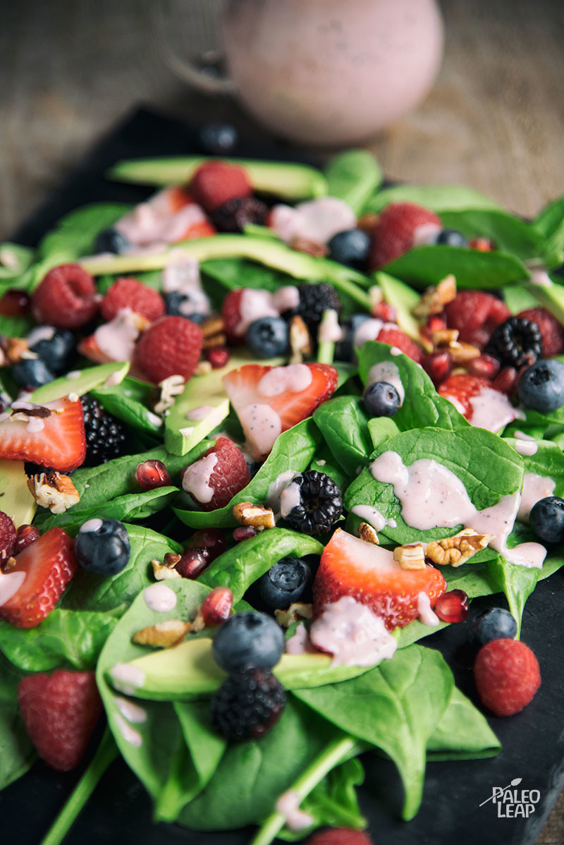 Berry Salad with Raspberry Dressing