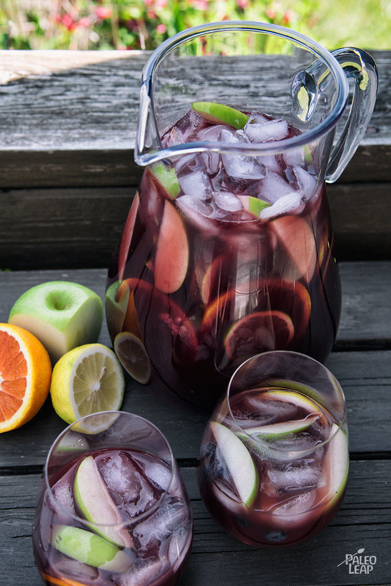 Traditional Red Sangria preparation