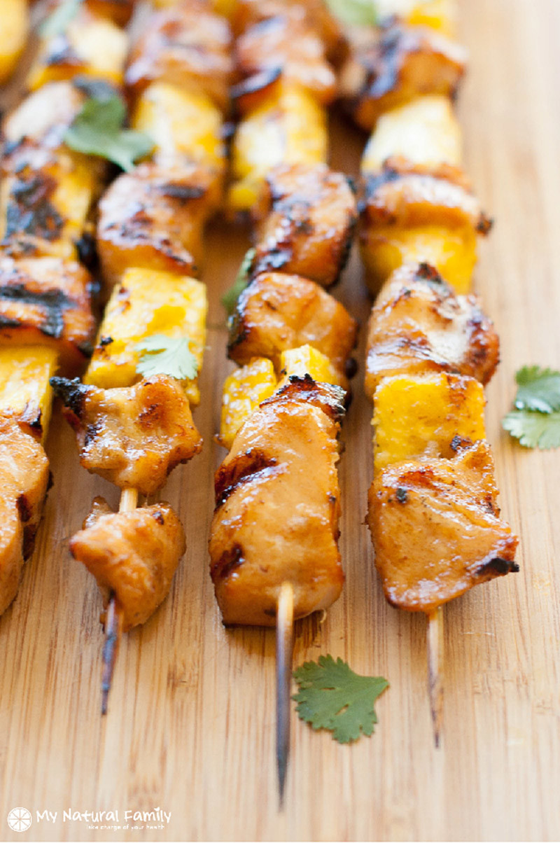 Paleo Teriyaki Chicken Skewers