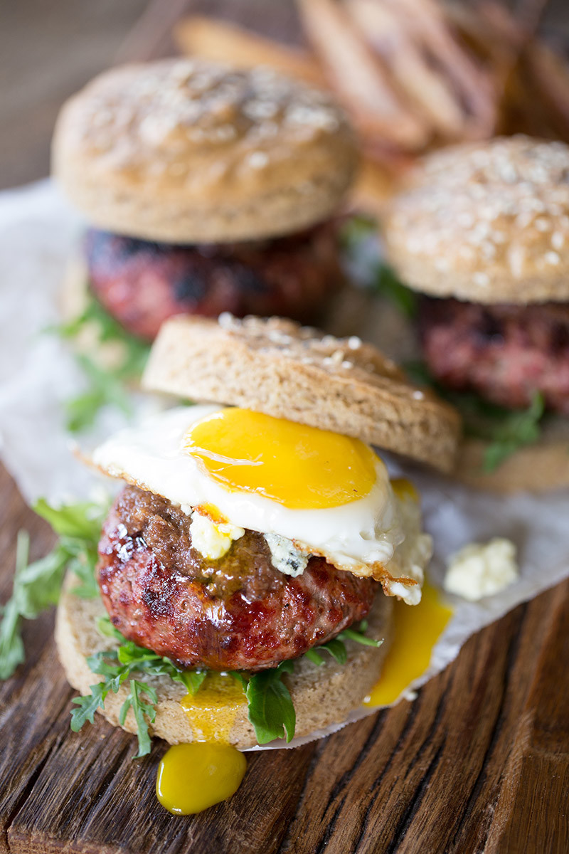 Bacon Jam and Fried Egg Burgers