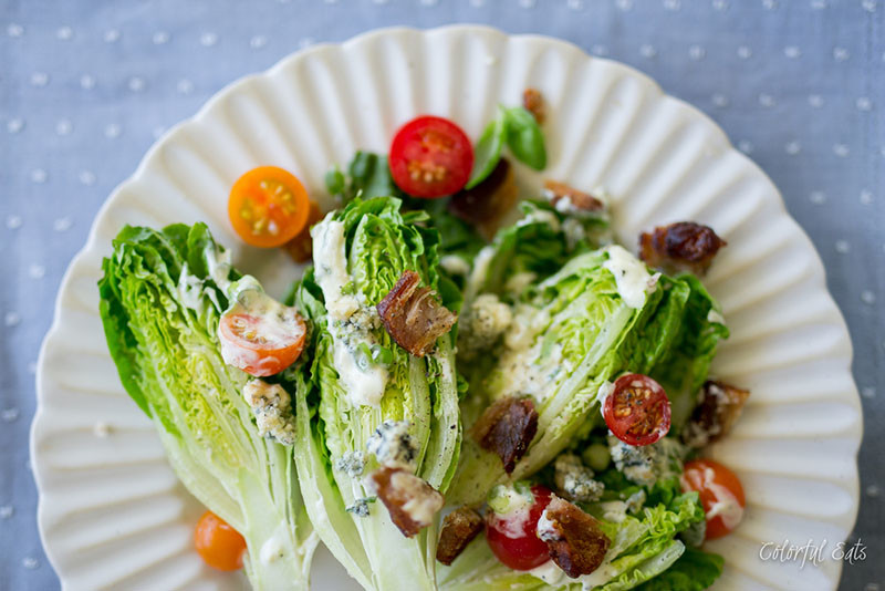 BLT Chop Chop Salad with Quick Paleo Ranch Dressing