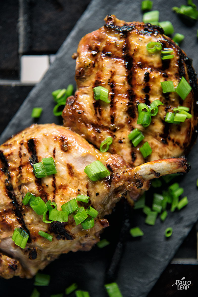 Grilled Dijon Pork Chops