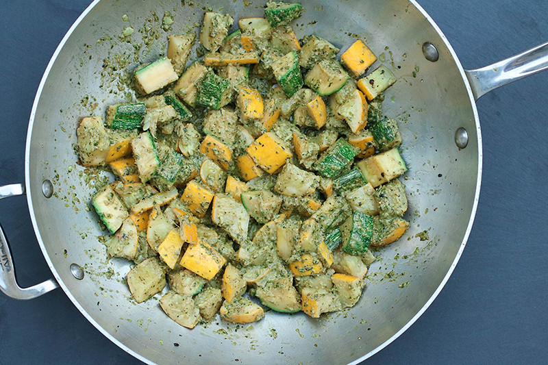 Summer Squash with Dairy-Free Pesto