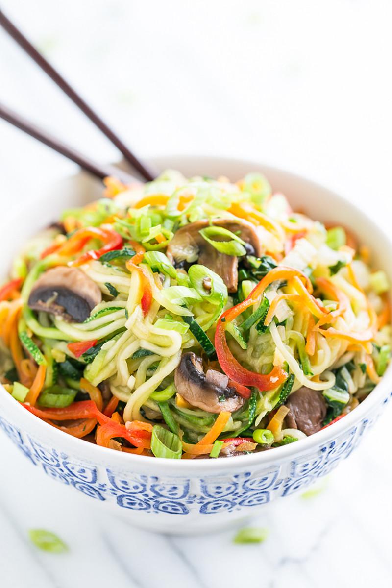 Zucchini Noodle Veggie Lo Mein