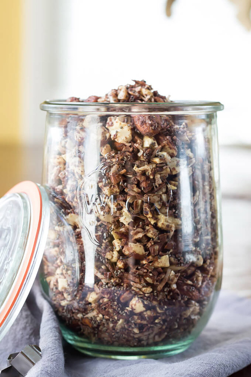 Chocolate Fudge Coconut Granola