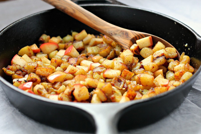 Caramelized Sweet Potato Apple Hash Browns