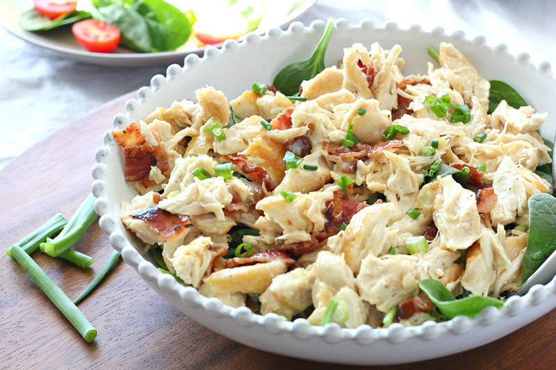 Paleo Chicken Salad with Bacon & Green Onion