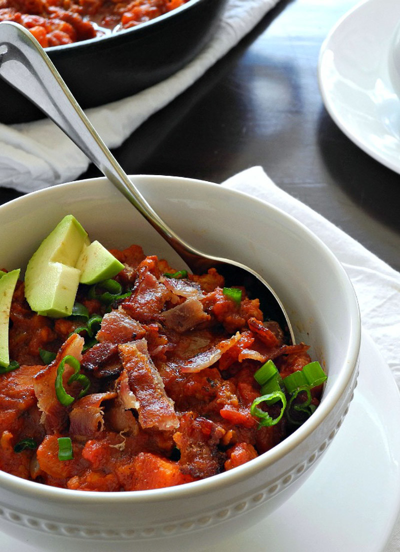 Chorizo Sweet Potato Chili