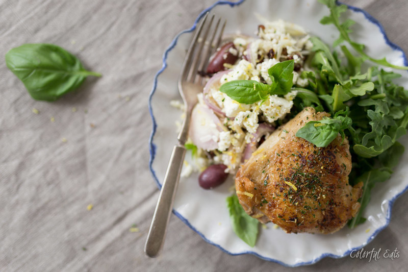 Grain-Free Greek Chicken and Cauliflower Rice Bowls