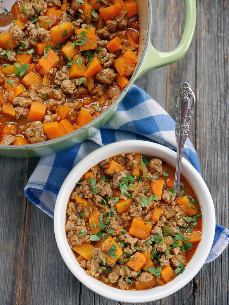 Spicy Chipotle Butternut Squash Turkey Chili
