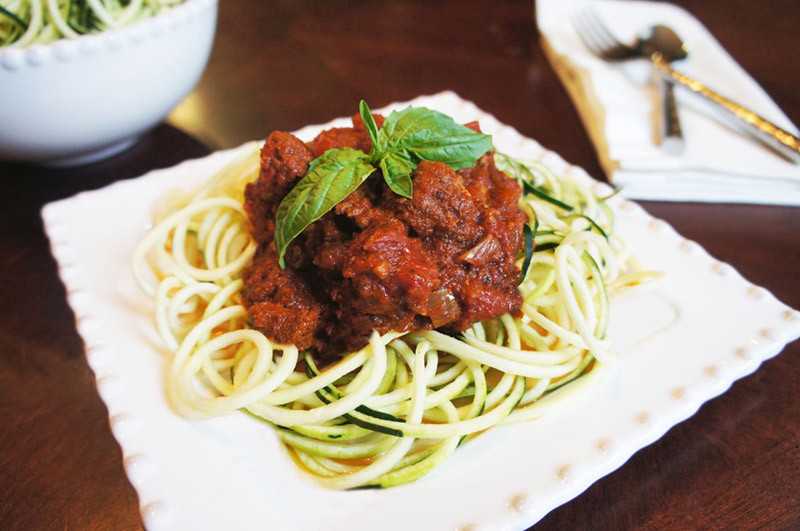 Best Ever Bolognese & Zoodles