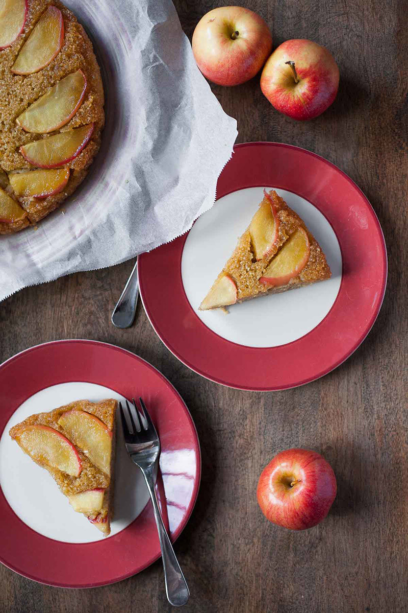 Apple Honey Upside-Down Cake