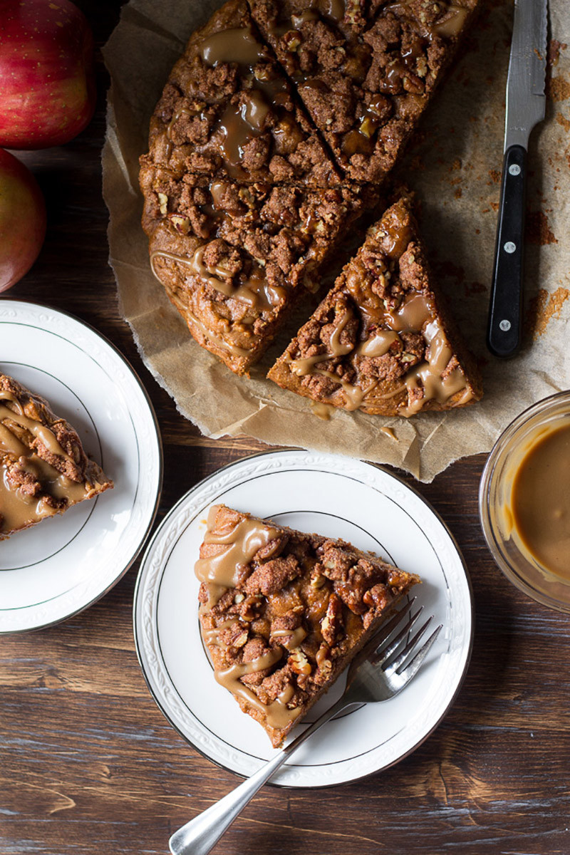 Paleo Caramel Apple Coffee Cake