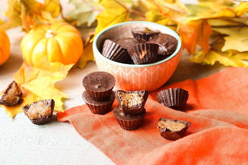 Chocolate Pumpkin Almond Butter Cups