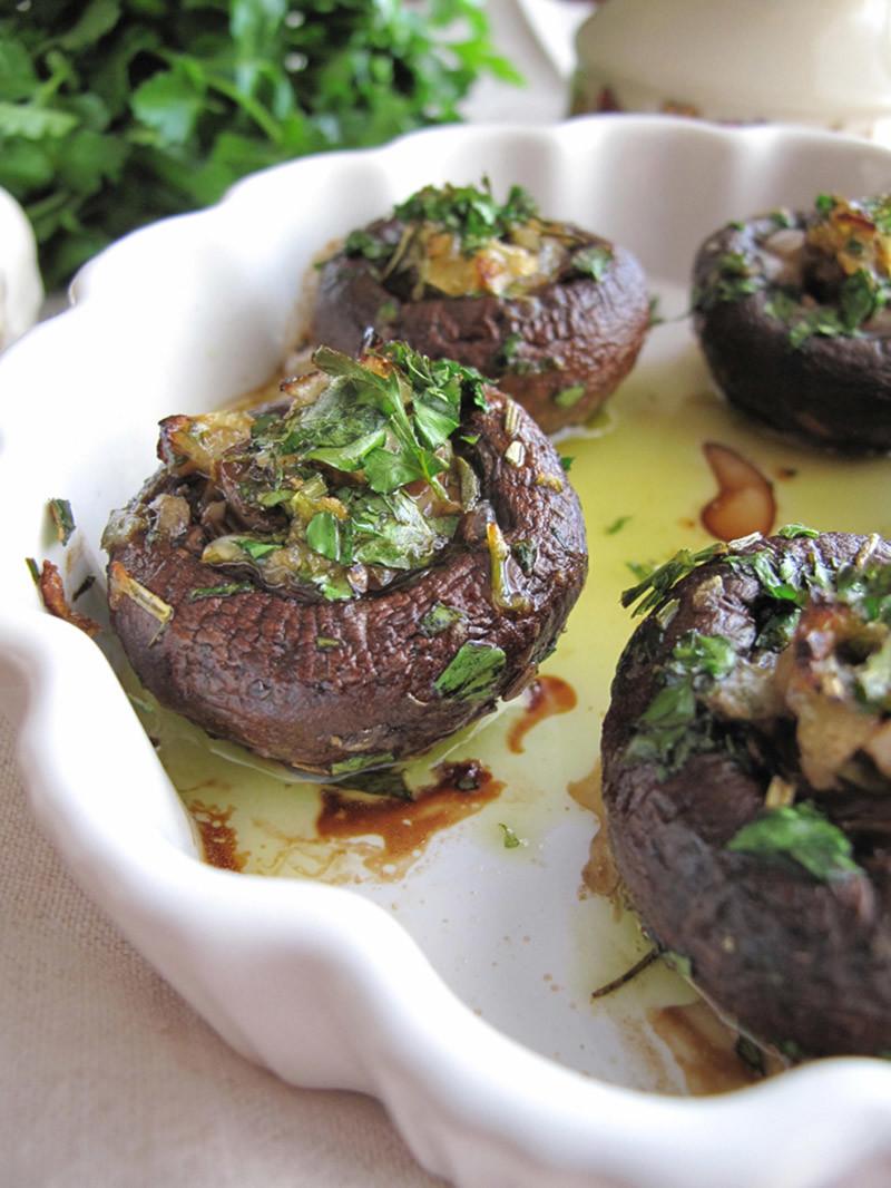 Garlic & Herb Stuffed Mushrooms Appetizer