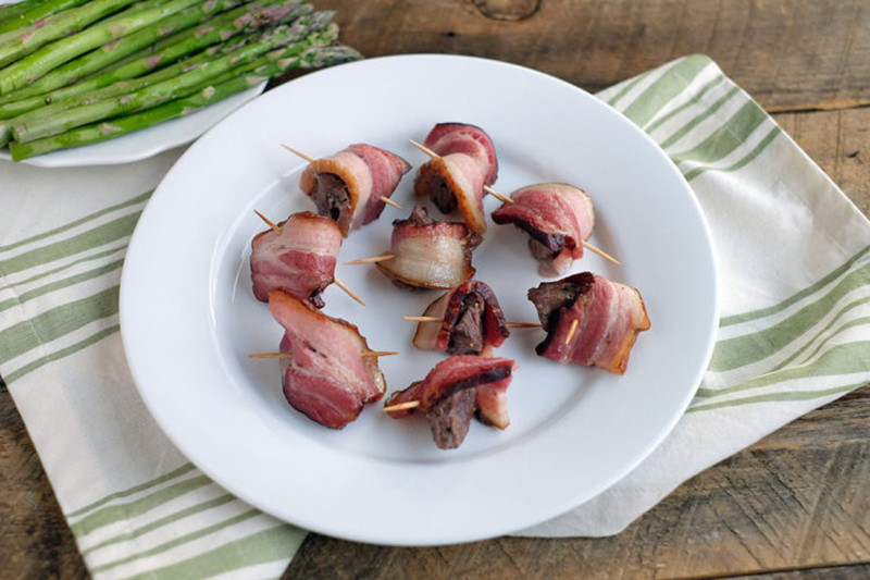 Bacon Wrapped Steak Bites