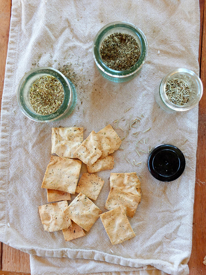 Paleo Herb Crackers