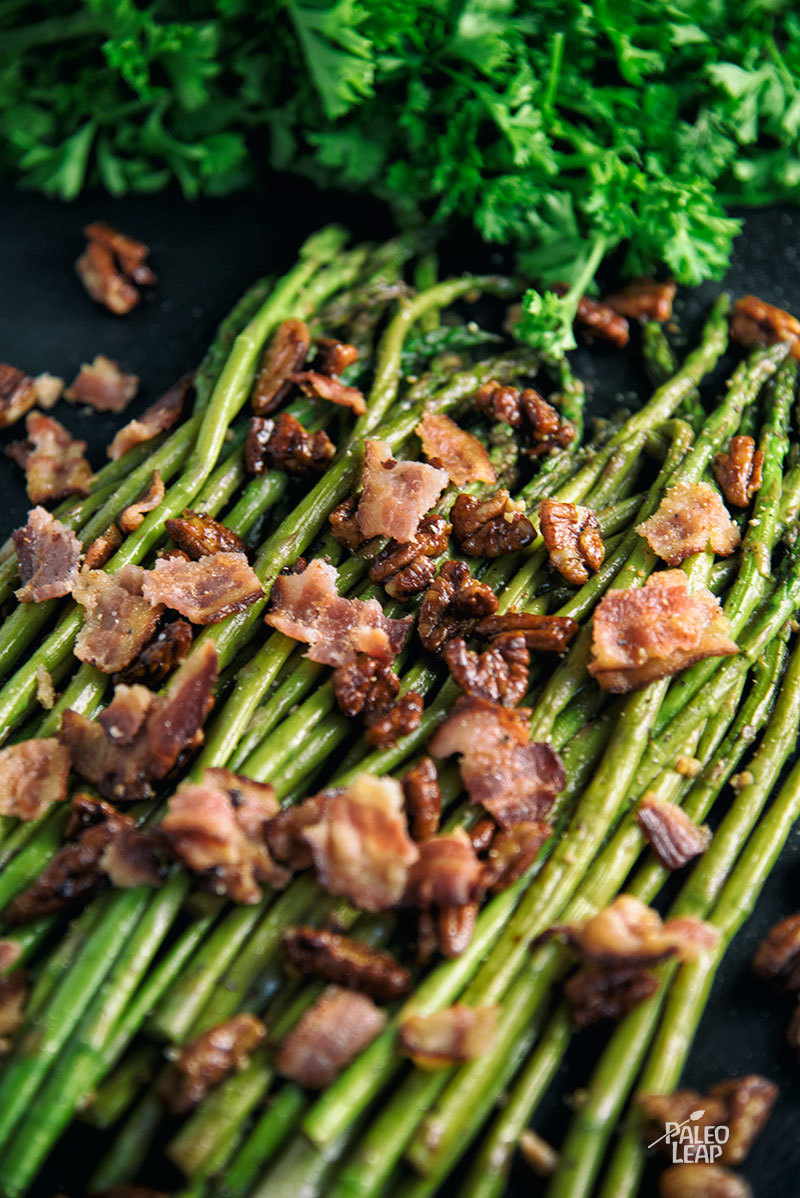 Dijon And Pecan Asparagus