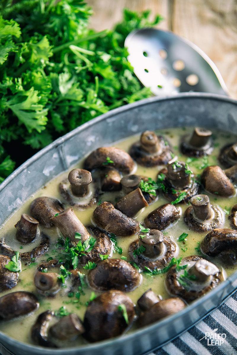 Slow Cooker Herb Mushrooms