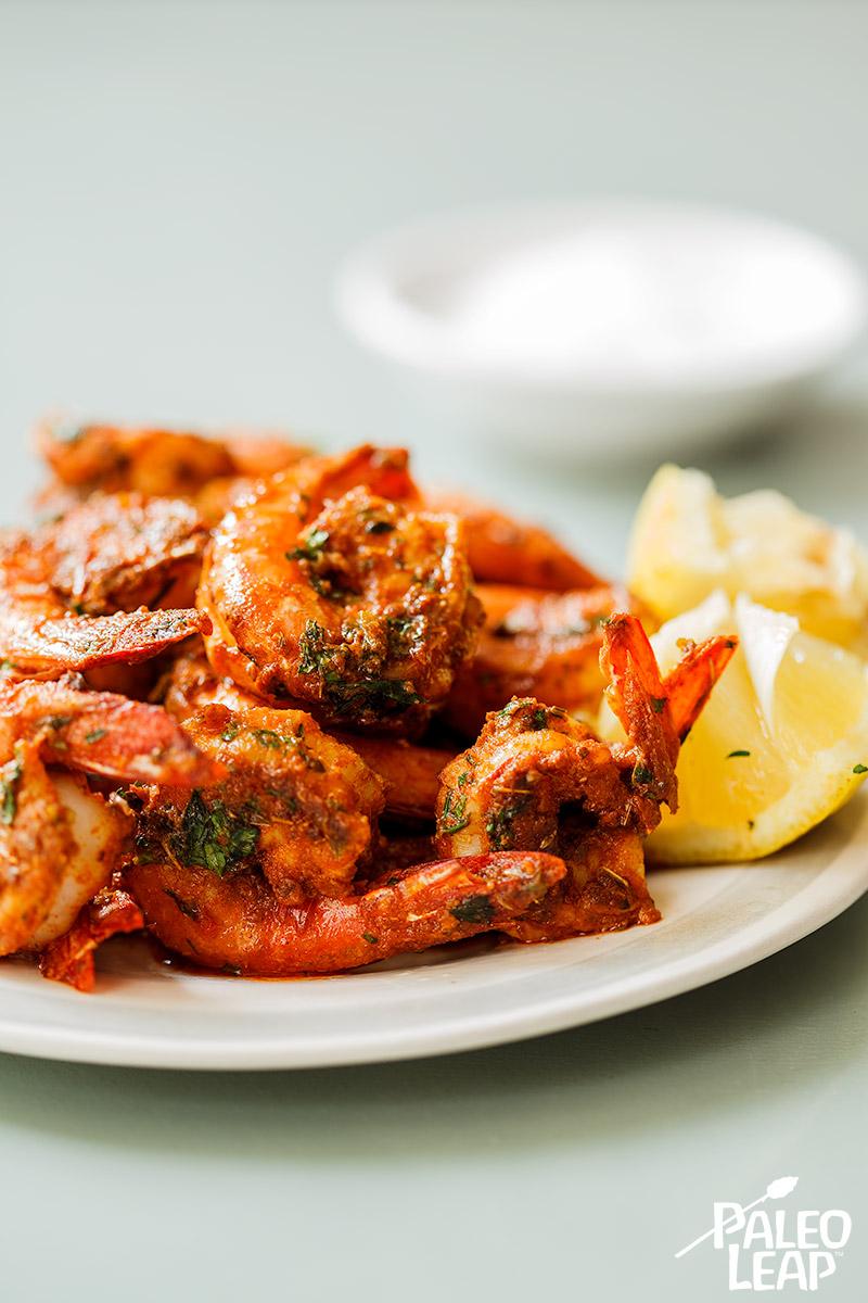 5 Minute Spicy Shrimp Paleo Leap