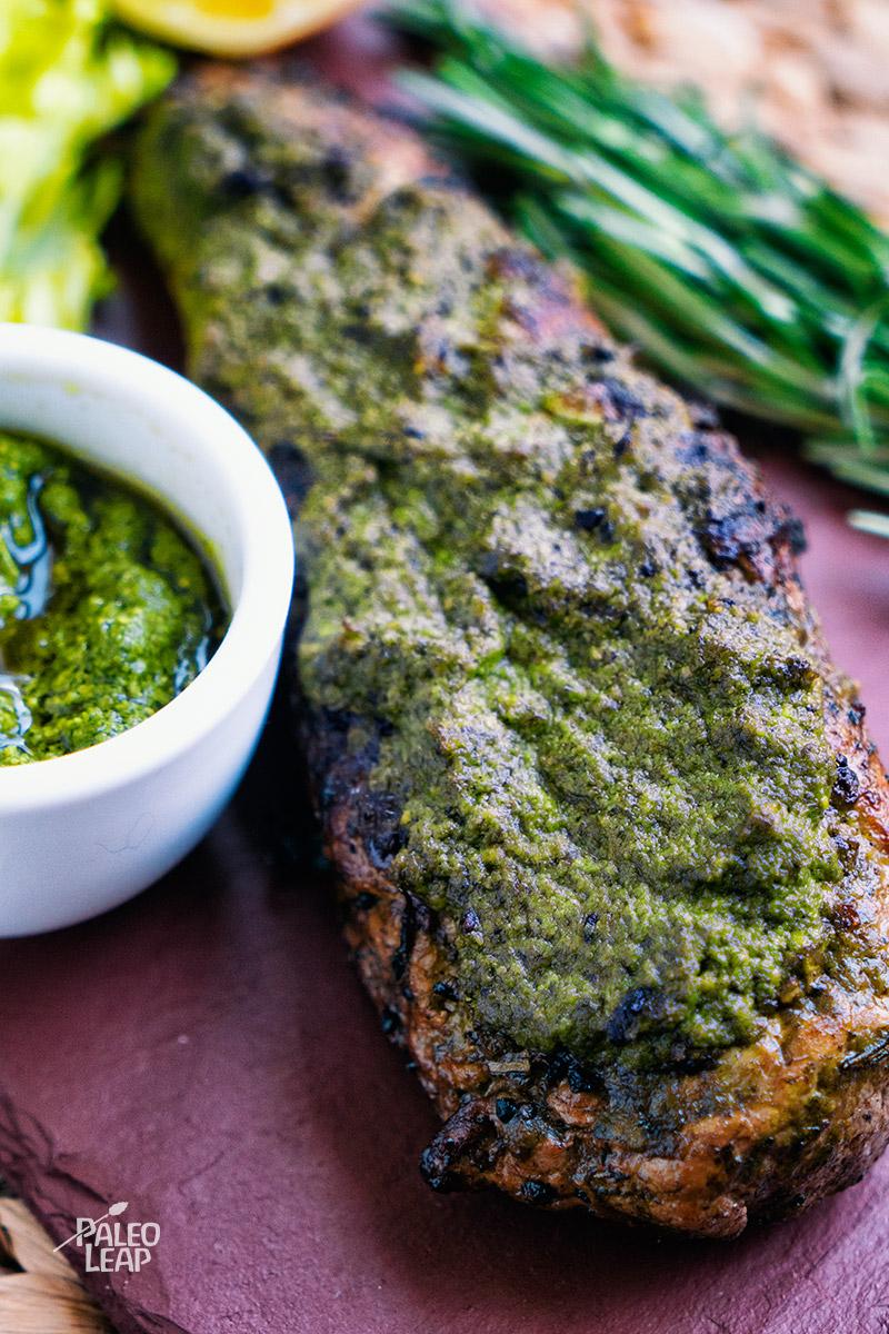 Pork Loin With Pesto Sauce Paleo Leap