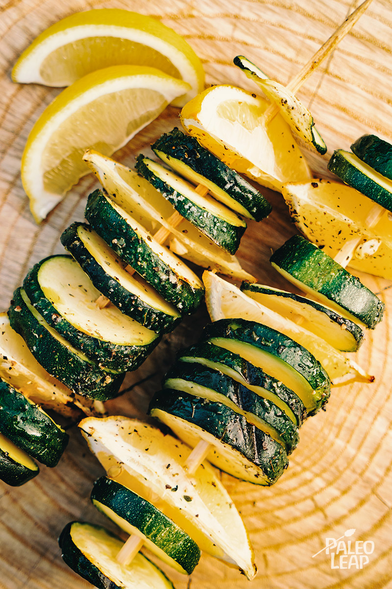 Grilled Zucchini Skewers Paleo Leap