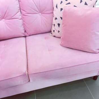 cojín terciopelo rosa