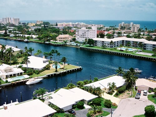 skyview of Deerfield Beach
