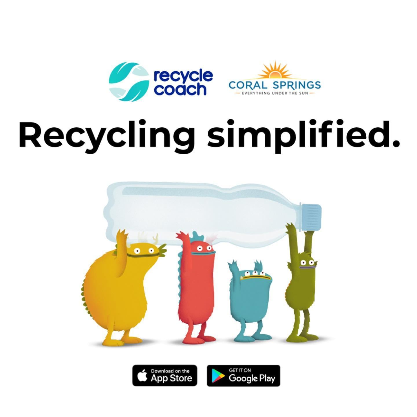 featured image for story, Coral Springs Recycle Simplified (Coach App)