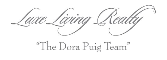 Luxe Living Realty | The Dora Puig Team Logo