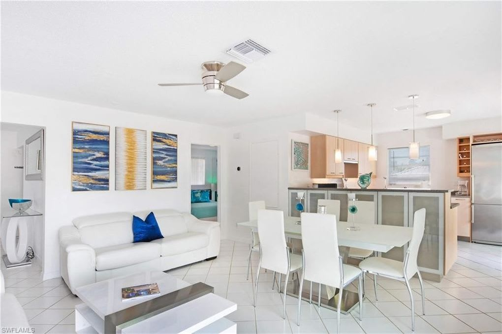 featured image of property, 215 Flamingo St Fort. Myers Beach, short. walk to beach ,new dock,boatlift ,jetski lift
