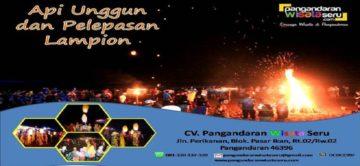 Rayakan Moment Kebersamaan dengan Api Unggun dan Pelepasan Lampion Di Pantai Pangandaran