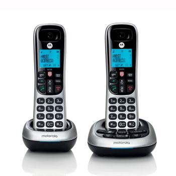 Motorola Digital Cordless Phone with Answering Machine - 2 Handsets