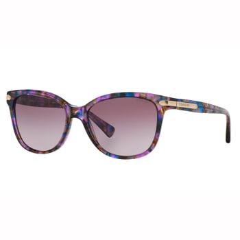 Coach L109 Cat Eye Sunglasses - Confetti Purple Frame and Purple Gradient Lens