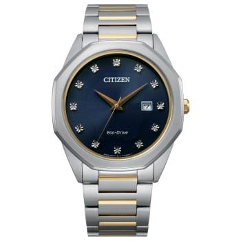 Citizen Men's Eco-Drive Corso Diamond Two-Tone Watch