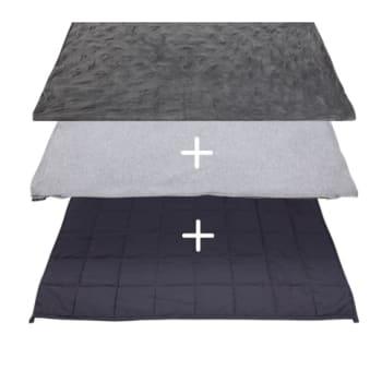 Hush® 2-in-1 Weighted Blanket Bundle: Summer & Winter - Charcoal Grey - Queen 80 x 87 - 25lb