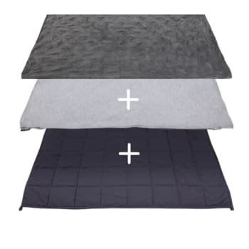 Hush® 2-in-1 Weighted Blanket Bundle: Summer & Winter - Charcoal Grey - King 90 x 90 - 30lb