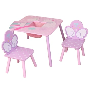 Danawares Unicorn Square Table and 2 Chairs