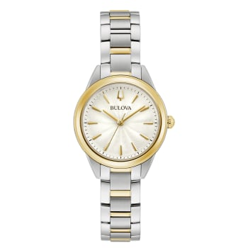 Bulova Classic Sutton Ladies Two-Tone Stainless Steel Watch