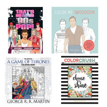 Adult Coloring Book Bundle - Set of 4