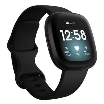 Fitbit Versa 3 Smartwatch - Black/Black Aluminum