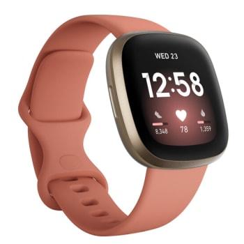 Fitbit Versa 3 Smartwatch - Pink Clay/Soft Gold Aluminum
