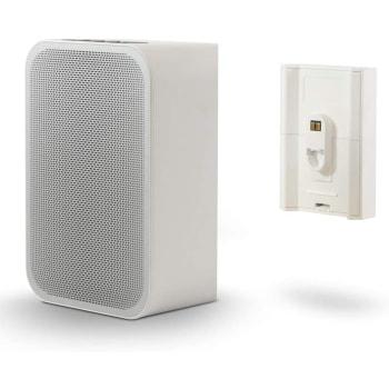 Bluesound PULSE FLEX 2i Portable Wireless Speaker + BP100 Battery Pack Bundle - White