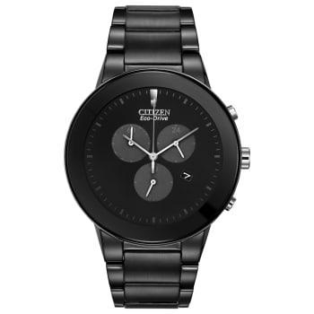 Citizen Axiom Men's Eco-Drive Steel Chronograph Watch