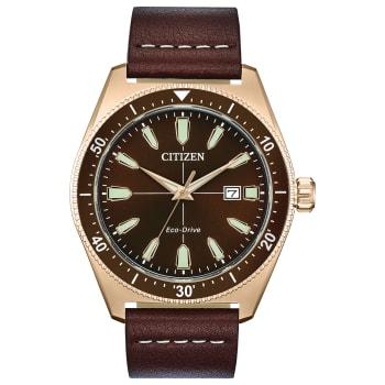 Citizen Vintage Brycen Sport Men's Eco-Drive Brown Dial Watch