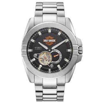 Bulova Harley Davidson Men's Automatic Throttle Stainless Steel Watch