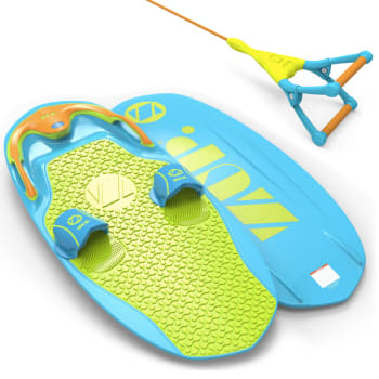 ZUP® You Got This 2.0 Water Board + DoubleZUP Tow Handle and Rope - Blue