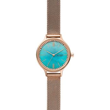 Skagen Anita Three-Hand Rose-Tone Steel-Mesh Watch
