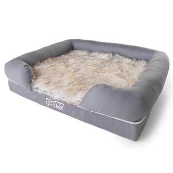Paw Canada PupLounge™ Memory Foam Bolster Bed & Topper - Medium/Large