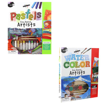 SpiceBox Petit Picasso Pastels and Watercolor for Young Artists Bundle